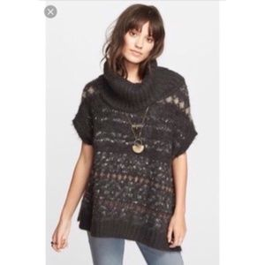 Free People Short Sleeve Oversized Sweater